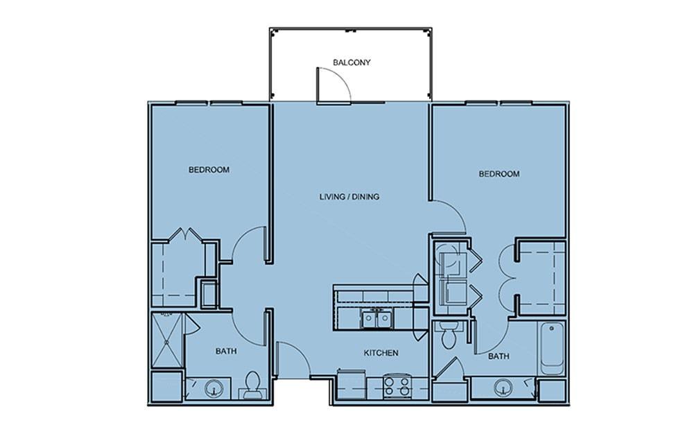B1 Studio 1 2 3 Bedroom Apartments For Rent At Aldrich 51