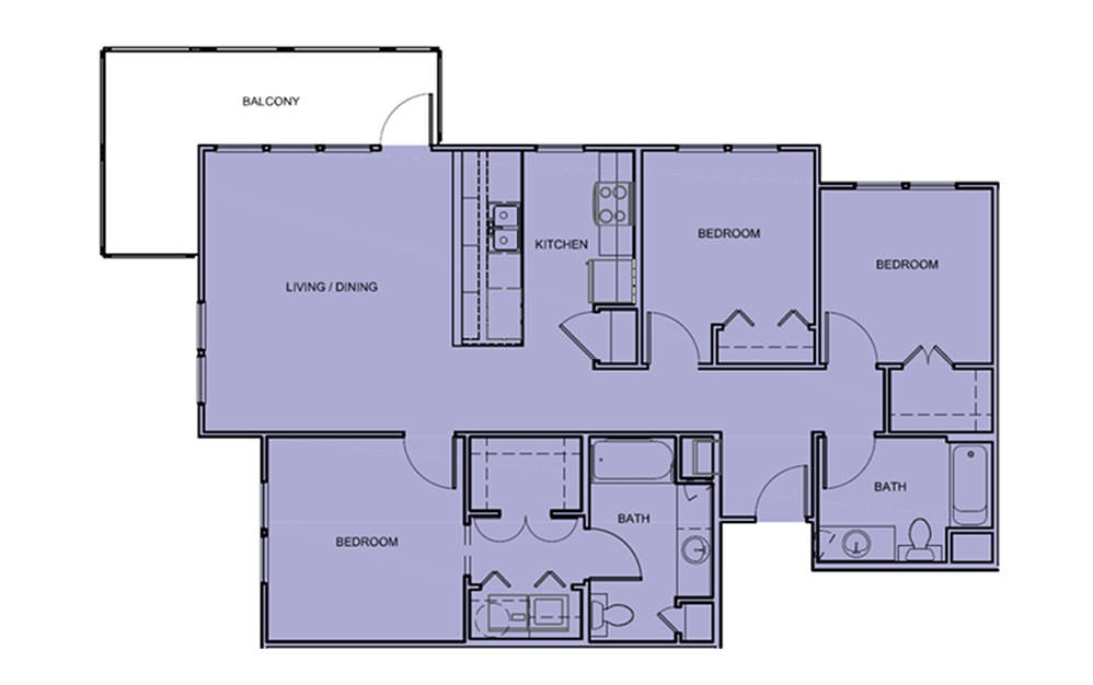 3 Bedroom Apartments For